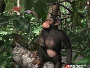 ATI drivers, back in the day, were similar to this here chimp: interesting, but unappealing